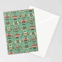 Christmas Sweaters – Vintage Blush Mint Palette Stationery Cards