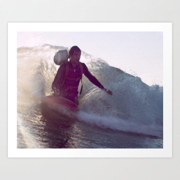 George Greenough Films Kneeboard Wake Art Print