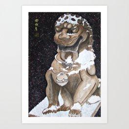 Lion Statue Art Print