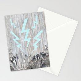 Lighting Bolt Crystal Stationery Cards