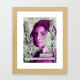 young Amy Framed Art Print