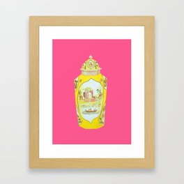 ROYAL WORCESTER PRINT PINK Framed Art Print