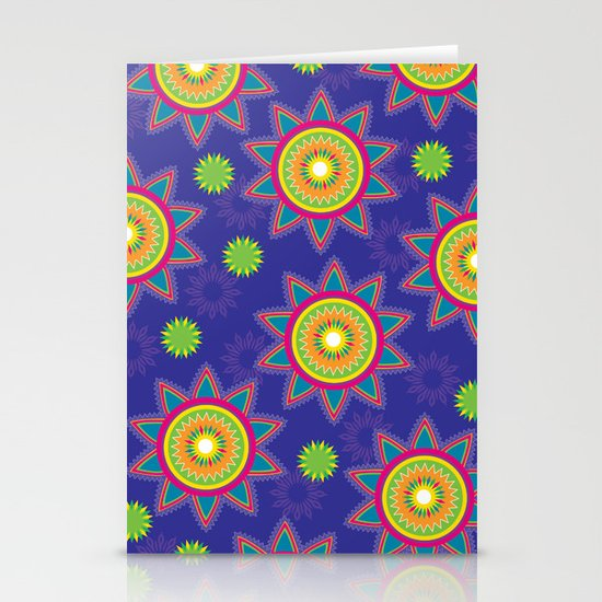 Moroccan Flower Purple Stationery Cards
