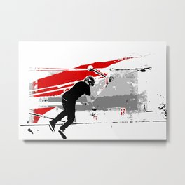 Spinning the Deck - Tail-whip Scooter Stunt Metal Print