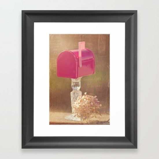 Sending out Love Framed Art Print