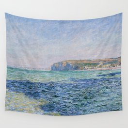 Shadows on the Sea at Pourville by Claude Monet Wall Tapestry