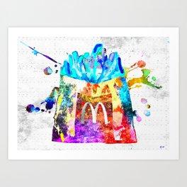 McDonald's Fries Art Print