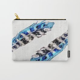 Two  blue feathers Carry-All Pouch