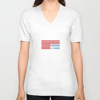 house of cards V-neck T-shirts featuring House of cards by Anomaly Studio