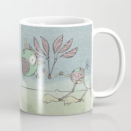 Green Shrieky Coffee Mug