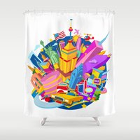 nyc Shower Curtains featuring NYC by mauromod