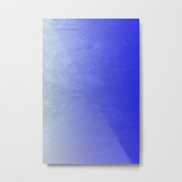 Blue Ice Glow Metal Print