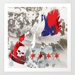 Molotov Riot Art Print