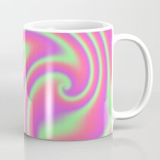Tutti Frutti Ribbon Candy Fractal Coffee Mug