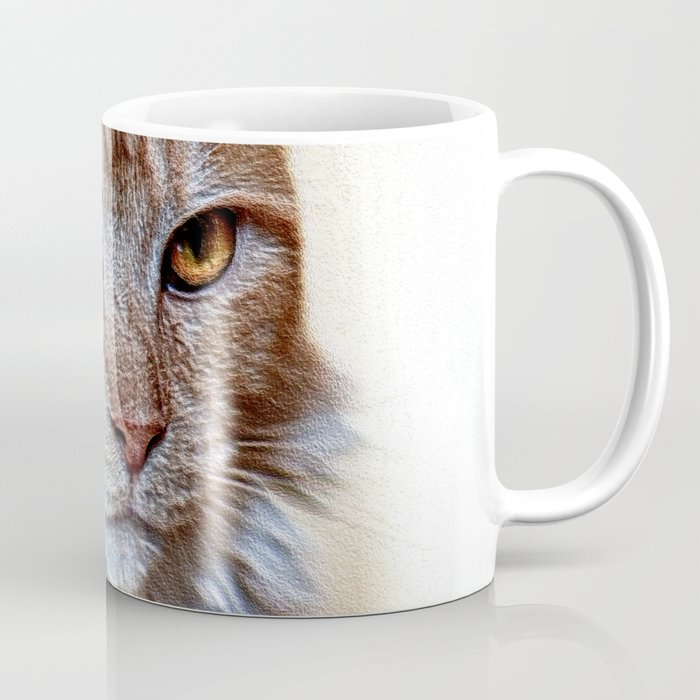 Nugget the golden main-coone-cat Coffee Mug