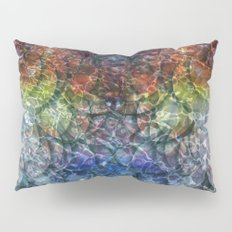 Rainbow Shimmer Bubbles Pillow Sham