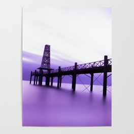 Purple Dawn Poster