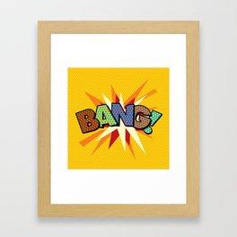Comic Book Pop Art Sans BANG! Framed Art Print