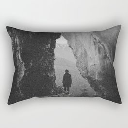 Through the Looking Glass - Holga Black and White Photograph in the Pacific Northwest Rectangular Pillow