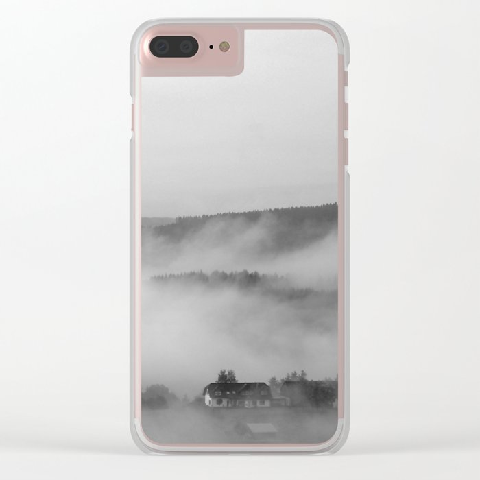 Landscape with fog Clear iPhone Case