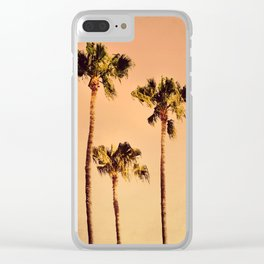 POPPY PALM TREES no1 Clear iPhone Case