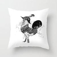 pirate Throw Pillows featuring Pirate by Sarinya  Withaya