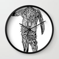 cyclops Wall Clocks featuring Cyclops by Shamun