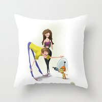 invader zim Throw Pillows featuring Invader by David Pavon