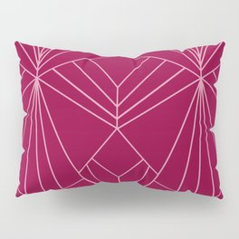 Art Deco in Raspberry Pink - Large Scale Pillow Sham