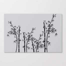Bamboo black - grey Canvas Print