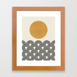 Sun & Wave - Oriental Pattern Framed Art Print