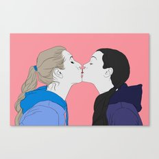 Girly kiss Canvas Print