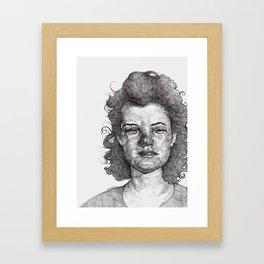 Roxy Renegade Queen of the Roller Derby Framed Art Print