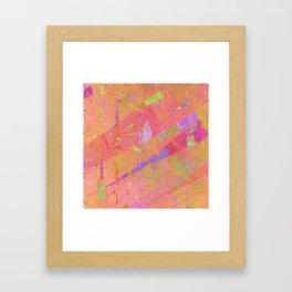 Triangle world Framed Art Print