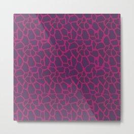 Plum Raspberry Giraffe Metal Print