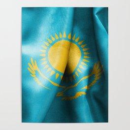 Kazakhstan Flag Poster