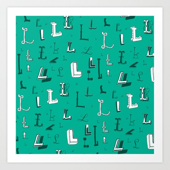 Letter Patterns, Part L Art Print