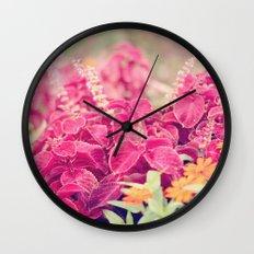 Garden Sunset  Wall Clock