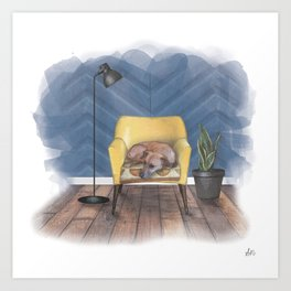 Home is Where Your Dog is Art Print