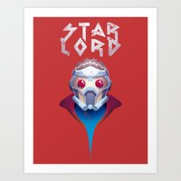 starlord Art Prints featuring Who? Starlord by Fenomeno