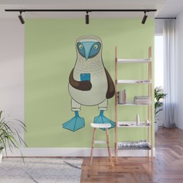 Blue-footed Booby with Phone Wall Mural