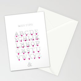 Node Typo Stationery Cards