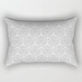 Icosahedron Soft Grey Rectangular Pillow
