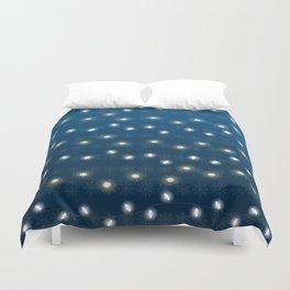 Christmas Light Blue Duvet Cover