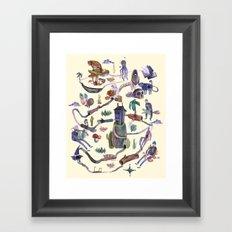 the MAP Framed Art Print