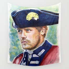 Jamie Fraser in a red coat Wall Tapestry