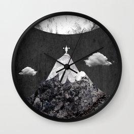 move any mountain Wall Clock