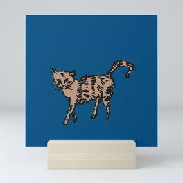 Animal Series - Scrappy Cat Mini Art Print
