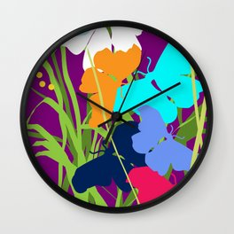 Butterfly Night Wall Clock