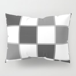 Slate & Gray Checkers / Checkerboard Pillow Sham